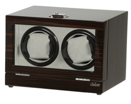 Picture of Double Watch Winder Ebony Wood w/LCD Dispaly