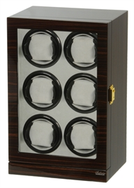 Picture of Six Watch Winder Ebony Wood w/LCD Dispaly